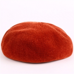 Beret Female Autumn-Winter Student Hat Cotton Painter Hat Sweet and Lovely Cap