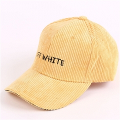 Autumn and Winter Hats Ladies Alphabet Baseball Caps Leisure Corduroy Couple Corduroy Caps with Flexible Elastics