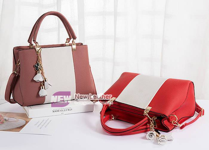 New model contrast color accessory women bag set