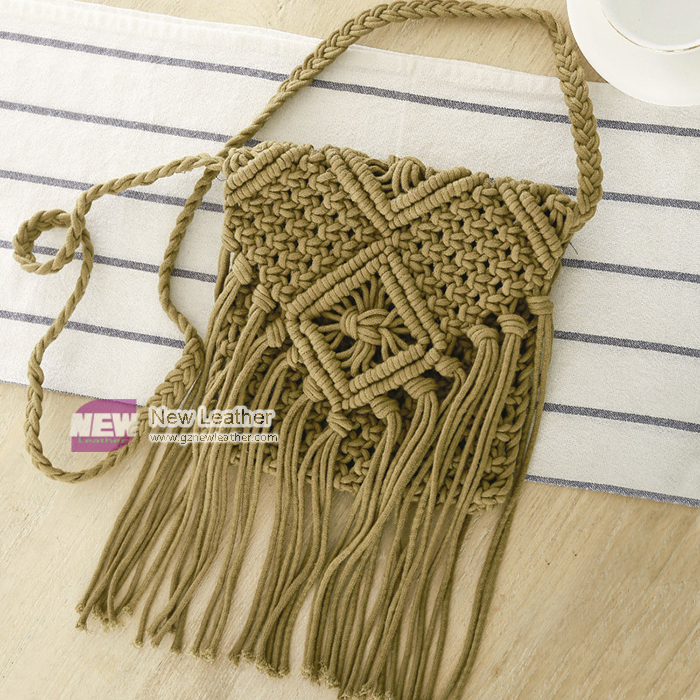 Woven Cotton Summer Beach Cross body Bag