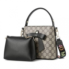 1888 China manufacture embossed patterns women bags set with bowknot