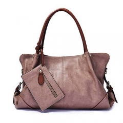 ST1066 Brand logo solid color elegant 3 pieces handbags for women