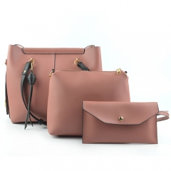 ST1079 High quality solid color elegant hand bags set for party