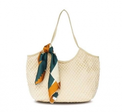 PU2012 Direct factory price mesh style canvas tote bag handbag for lady