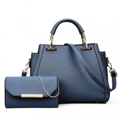 NPU0476 2019 Newest Metal Handle handbag set for lady