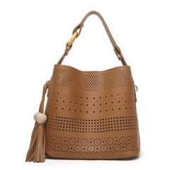 NPU0484 Fashion promotional hollow out women bag set  with tassel