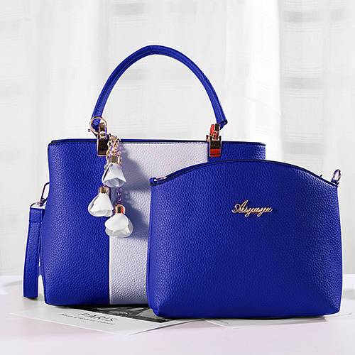 1908 New model contrast color accessory women bag set