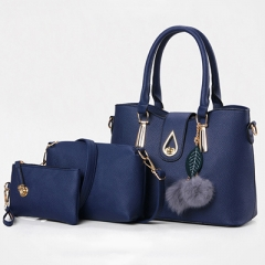 1911 New product 2019 fur accessory Women hand bags set