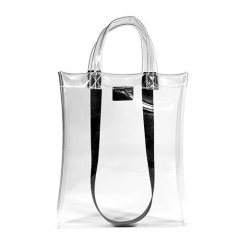 PU2040 Trendy Transparent Tote Bag With Long Strap