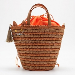 BC0128 Fashion handbag factory Large Capacity summer straw beach bags for Women