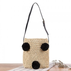 BC0156 China bags online shop Wholesale  E mbroidery cherry  Straw Tote Bag