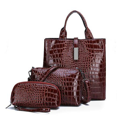 PU2044 High Quality Crocodile Pattern Purse Hand Bag Tote For Women