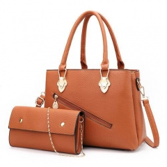 PU2038 Popular fashion pu leather bags 2 pcs handbags set for women