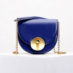 LT1866 Customized Real Leather Lady Crossbody Bag With Round Lock