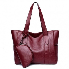 PU2069 Soft PU Leather Lady Tote Bag With Large Compartment