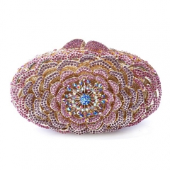 EV78336 Oval Shape High-end Handmade Evening Clutches For party