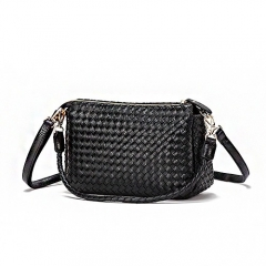 PU2127 Classic woven style women fashion chain messenger bags for wholesale