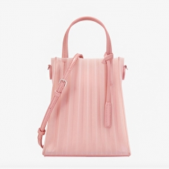 PU2150 Wholesale Singapore Stylish Silicone Candy Jelly Stripe Transparent PVC designer Set Tote hand bag