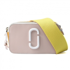 LT1929 New hot selling brand design contrast color leather crossbody bags small bag with wide shoulder strap