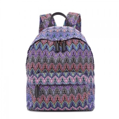 PU2213 Korean new fashion custom knitted printed cloth women's backpacks high quality travel backpack