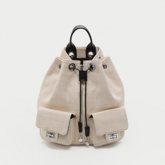 PU2223 2019 Korean new fashion school bag high quality canvas backpack female back pack
