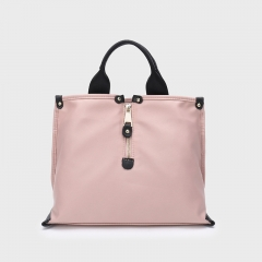 PU2252 Guangzhou manufacture new large handbags simple Korean waterproof cloth nylon tote shoulder bag for women