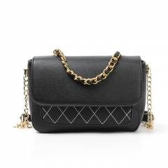 PU2253 2019 Fashion Women Stitching Crossbody Shoulder Flap Bag With Chain