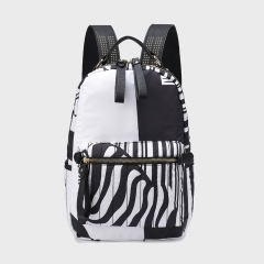 PU2261 2019 Fashion Camouflage Striped large capacity Canvas Travel Women Backpack