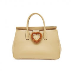 PU2271 Guangzhou factory Heart lock Big Size PU leather Tote Shopping bag for Women