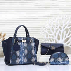 PU2279 2019 New design Snake Printed 2 in 1 3 in 1 4 in 1 Women set handbag