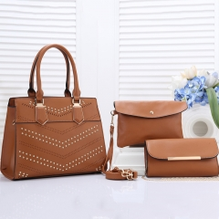 PU2285 New 2019 wholesale 3pcs in1set Rivet classical Designer handbags