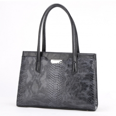 PU2294 2019 High quality snakeskin print PU leather handbag big size tote shoulder bags for women