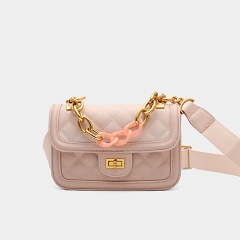 PU2299 2019 Stylish design high quality pu leather ladies crossbody bag chain shoulder sling handbags for women