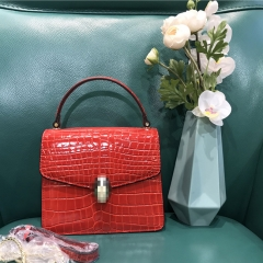 LT1971 Italy Design Top Quality Crocodile Embossed Leather Handbags Ladies crossbody shoudler bag