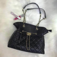PU2336 Hot sale fashionable metal chain shoulder quilted bag high quality PU leather handbag for women
