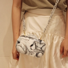EV174 Fashion Acrylic Marble Pattern Dinner Evening Bag Personality Fashion Shoulder Chain Clutch Bag For Women