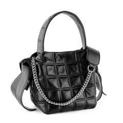LT2029 New design womens fashion hand bags women quilted genuine leather ladies shoulder handbags with chain