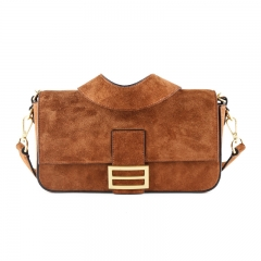 LT2042 2020 New style suede leather single shoulder baguette bag crossbody vintage fashion women bag
