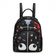 PU2354 High-quality printed cartoon schoolbag graffiti stylish backpack for ladies