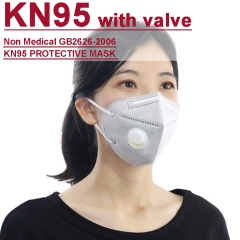 KN95 with breathing valve FFP2 BEF over 95% for prevent Corona pandemic using