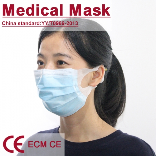 Medical mask non-woven earloop BEF over 95% daily use face mask