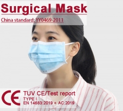 Sterile EO Surgical face Mask BEF over 95% with TUV certificates for COVID-19(Medical staff use)