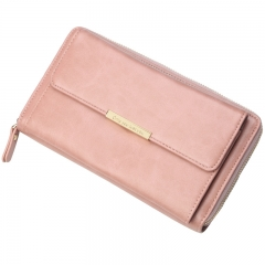 PU2406 Korean fashion design large capacity multi-function shoulder bag long clutch bag PU leather ladies purse