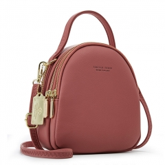 PU2412 Simple Fashion Design Should Bag Women Korean Style Candy Colors Small Backpack Girls Crossbody Bag