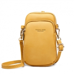 PU2415 Hot Selling Pebbled PU Leather Ladies Smart Cell Phone Shoulder Bag Fashion Women Crossbody Bags