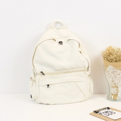 PU2432 Japanese and Korean style canvas rucksack women's simple leisure backpack high quality schoolbags