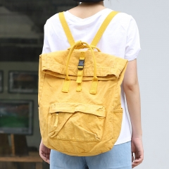 PU2437 2020 Korean bags fashionable large capacity backpack washable canvas rucksack girls school bags
