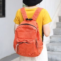 PU2441 Korean retro style canvas backpack students shoulder bag school bag women travel backpacks