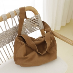 PU2449 Korean style women crossbody bag large capacity canvas handbag leisure fashion shoulder bag