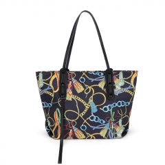 PU2459 2020 New arrival large capacity tote bag high quality graffiti fashion shopping handbag for women
